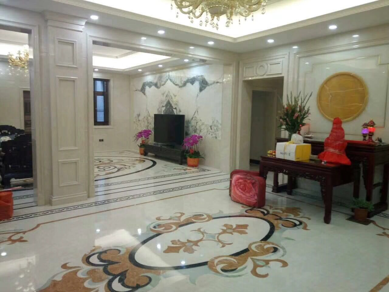 Fashion Design Modern Floor Decoration Composited Marble Waterjet Medallion Price