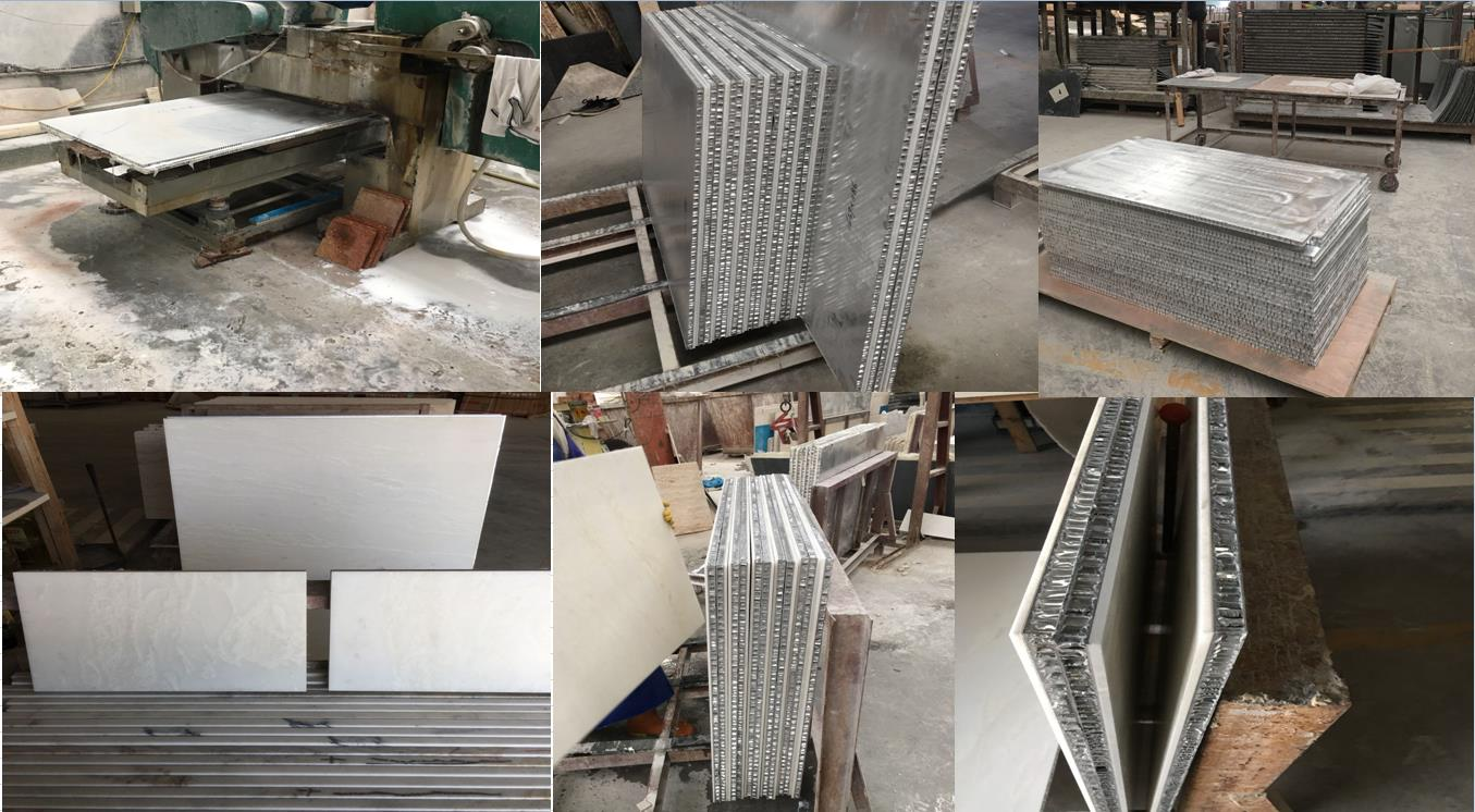 Aluminum Honeycomb composited with Granite